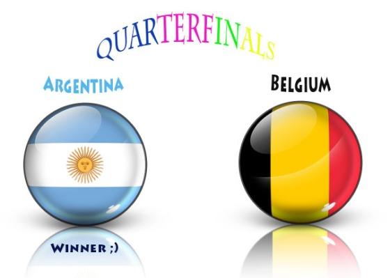 pred, argentina vs belgium